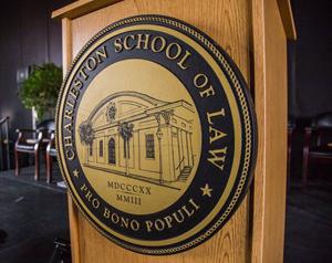 Charleston School of Law podium