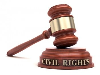 civil rights words and gavel