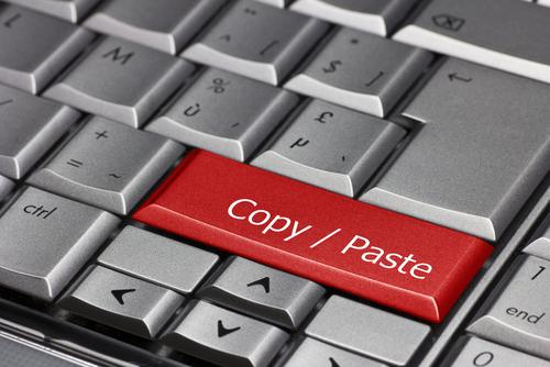 copy paste button on keyboard