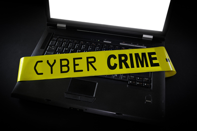 cybercrime tape and computer