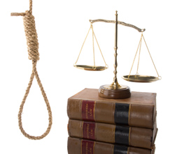 Noose and law scales.