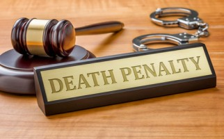 gavel and death penalty sign
