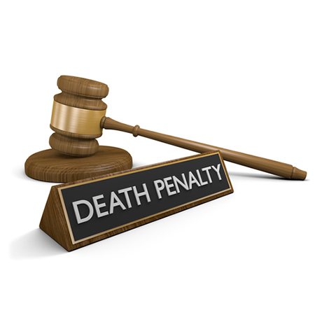 death penalty words and gavel