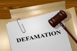 defamation documents and gavel