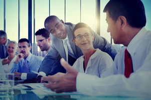 group of diverse businesspeople