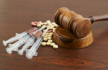 drugs and gavel
