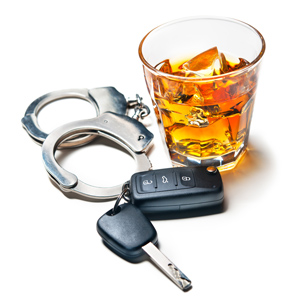 Alcohol, handcuffs and car keys