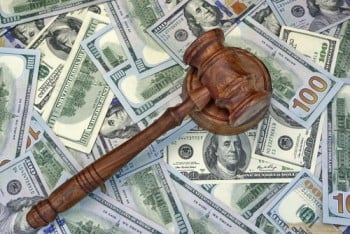 fines and fees - money and gavel