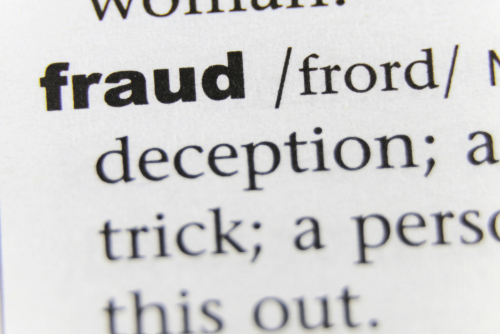 fraud dictionary words