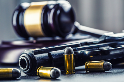 gavel and bullets