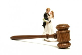 gavel and wedding cake topper