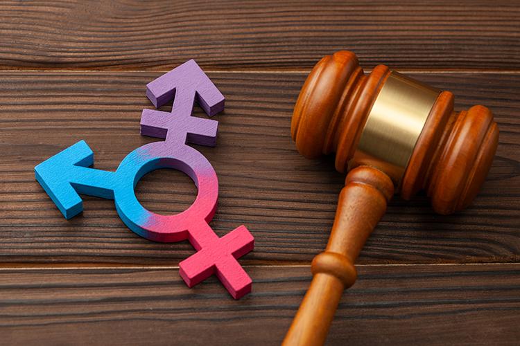 Gender symbols and a gavel