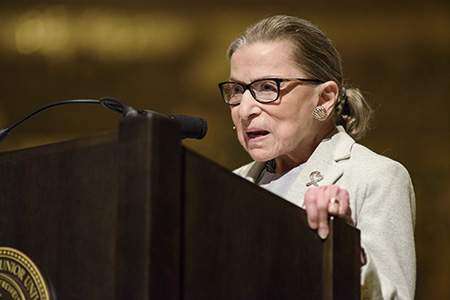Justice Ginsburg supports #MeToo movement and tells of harassment