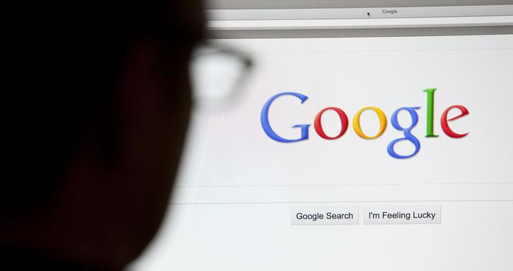 Google logo on computer screen