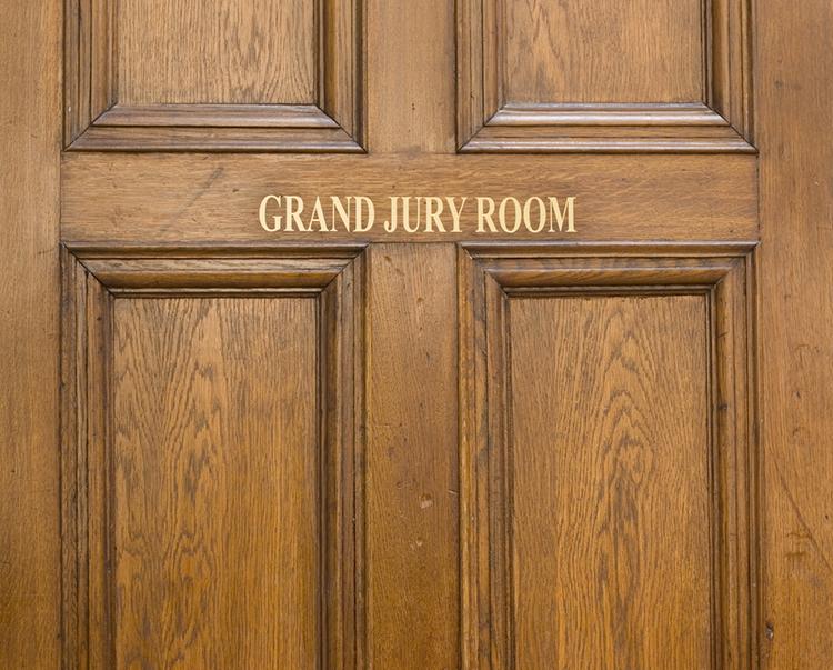 door with grand jury words