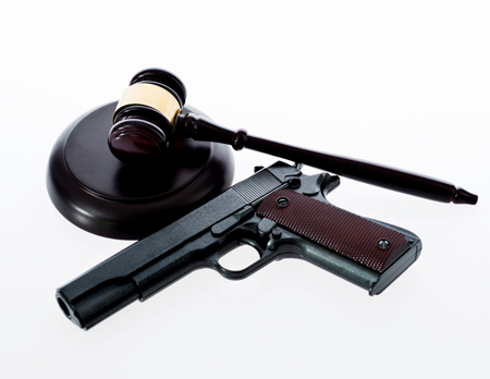 gavel and gun