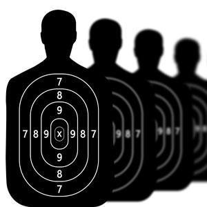 Gun range targets.
