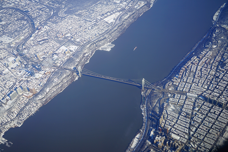 George Washington Bridge, aerial shot