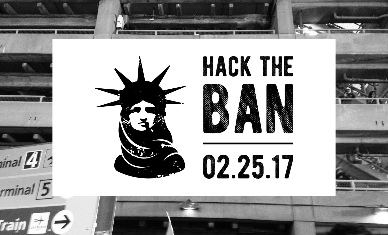 Hack the Ban logo.