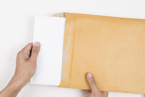 hand envelope