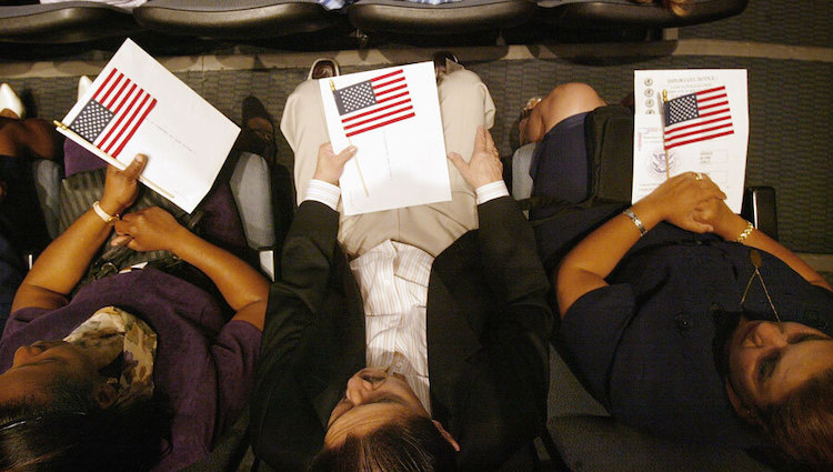 immigration Getty Image with three people
