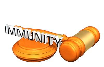 immunity words and gavel
