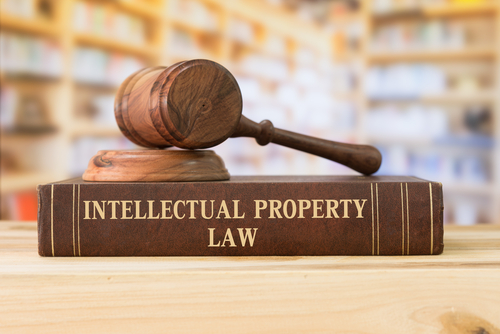 intellectual property law and gavel