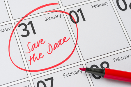 calendar with January 31 circled.