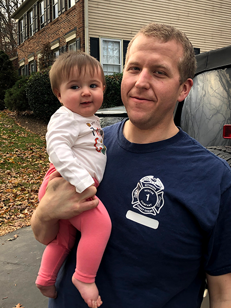 Chris and his daughter