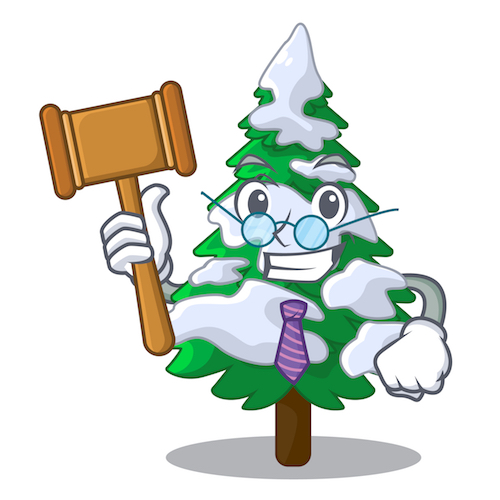 judge snow tree gavel