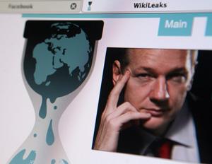 Julian Assange on the Wikileaks website.