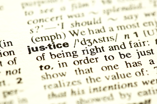 justice words dictionary