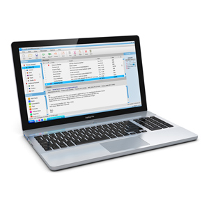 Laptop with email program open