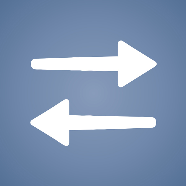 Lateral arrows.