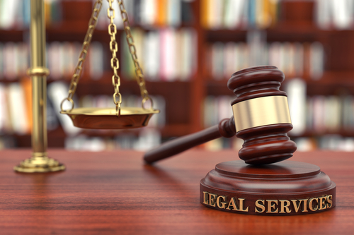 legal services words and gavel