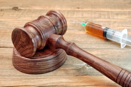 gavel and syringe