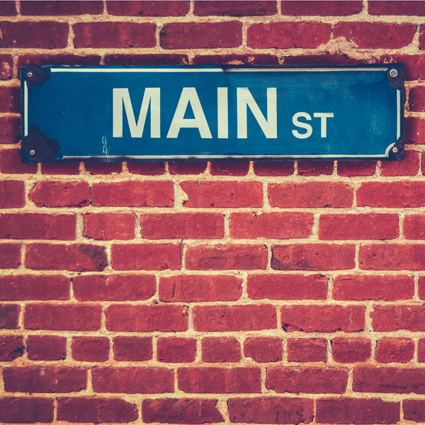 Main street sign.