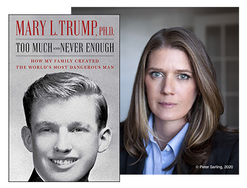 Mary Trump and her book cover