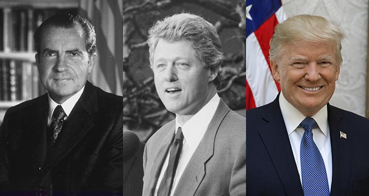 Nixon, Clinton and Trump