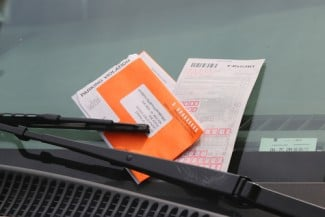 ticket on car windshield