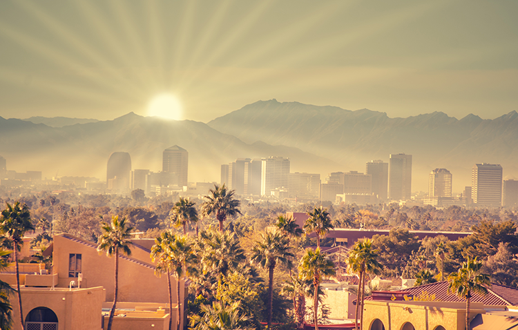 Sunrise over Phoenix, Arizona
