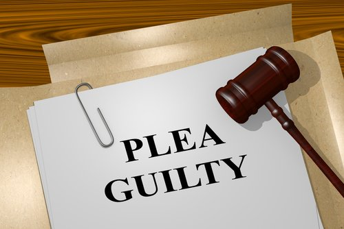 guilty plea and gavel