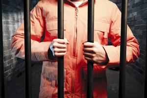 prisoner in orange jumpsuit