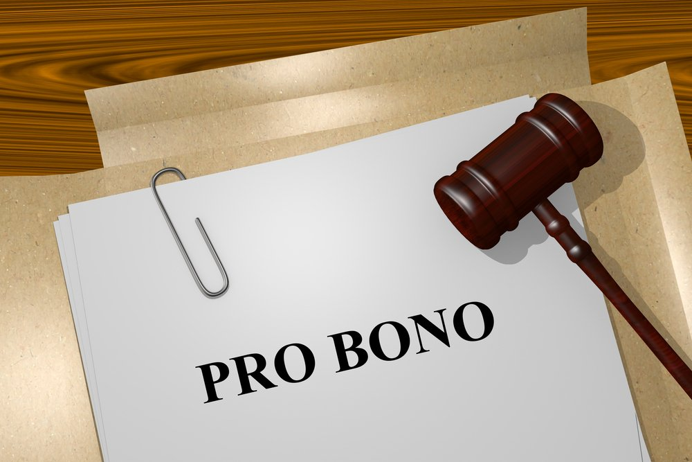 Gavel and file with document titled Pro Bono.