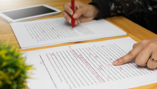 proofreading pen paper
