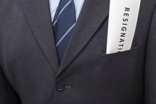 resignation letter in suit