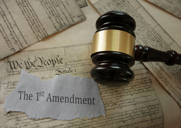 First Amendment and gavel