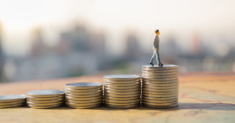 salary increase with coins