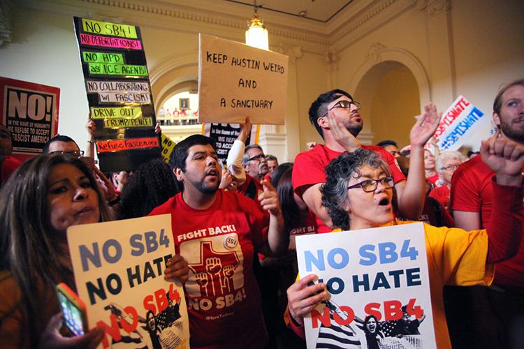 sanctuary city protest