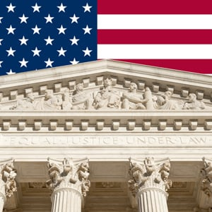 Scotus and flag.